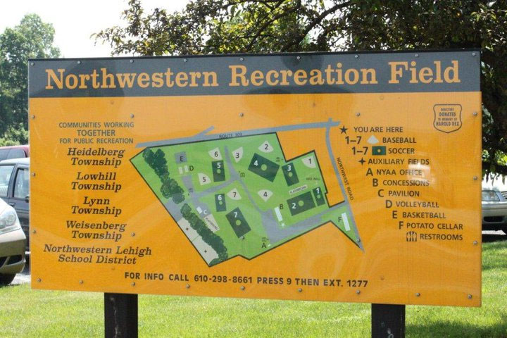 Northwestern Recreation Commission Field Map
