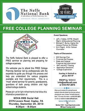 College Planning Seminar flyer