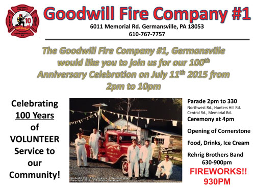 Germansville 100th Anniversary