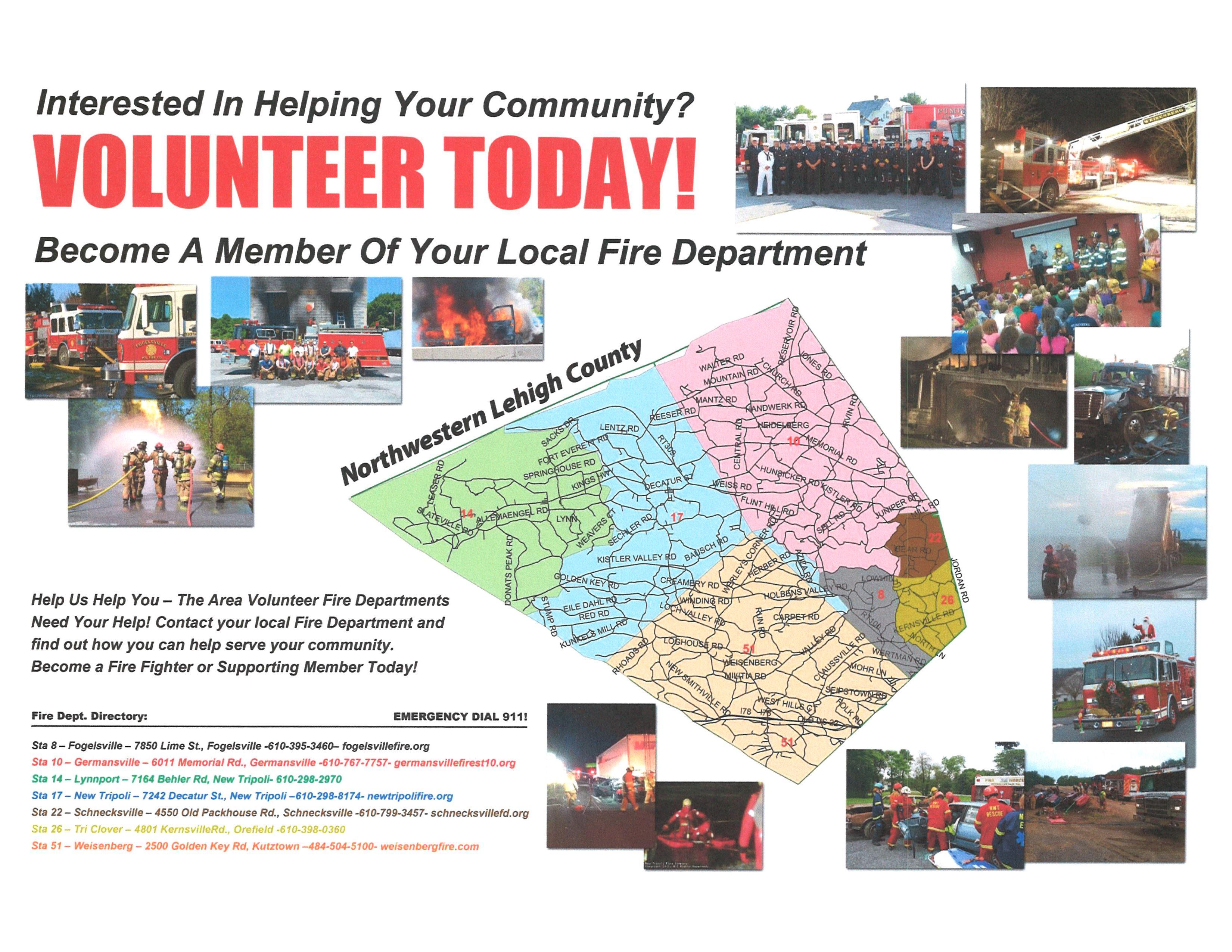 fire dept volunteer poster