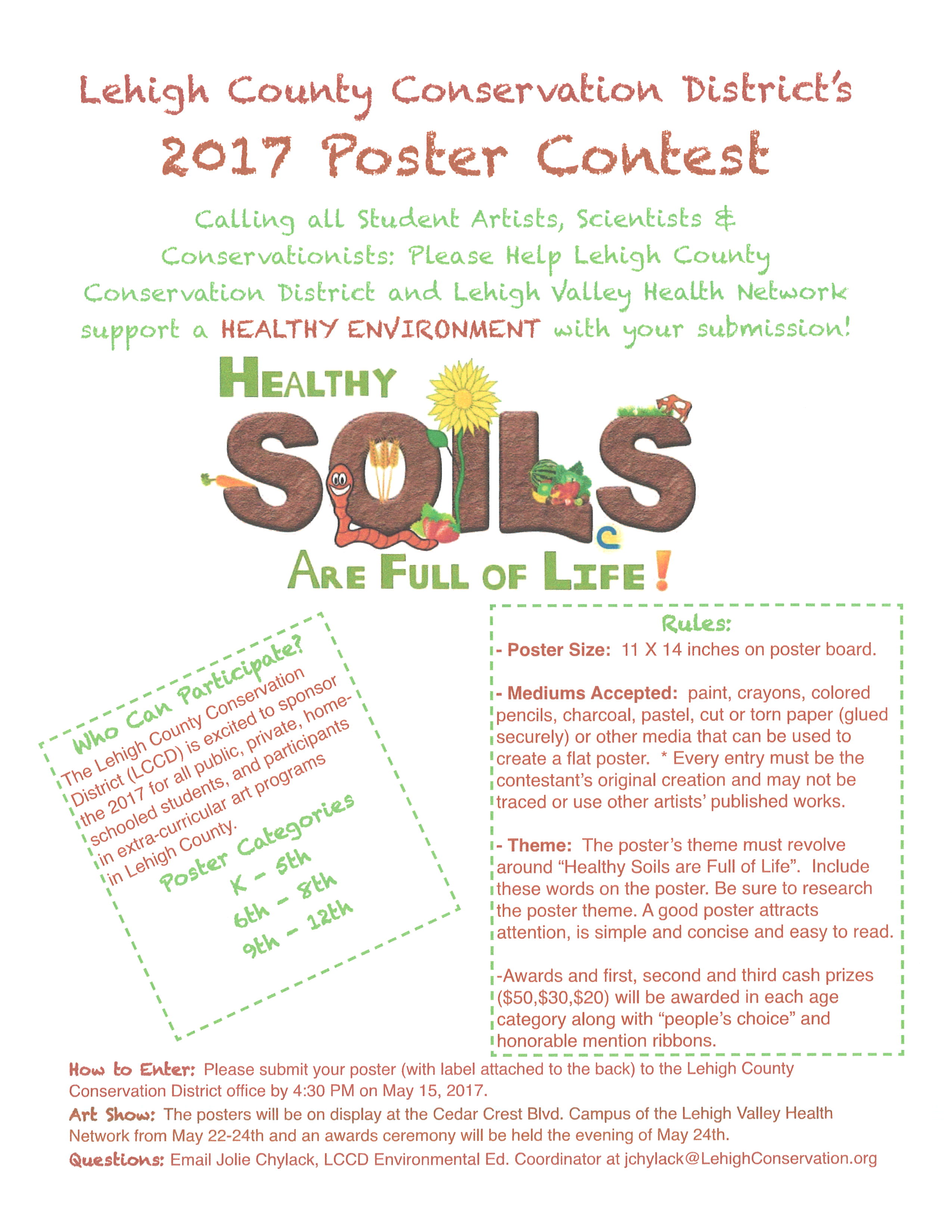 Healthy soils are full of life poster contest for Full form of soil